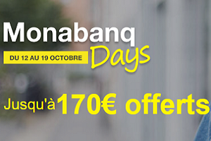 Monabanq, une prime de bienvenue jusqu'à 170€
